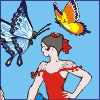 Dancer With Butterflies online game