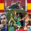 Best goalkeeper Iker Casillas of the Football World Cup 2010 Puzzle online game