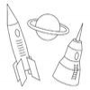 Coloring Space transportation -1 online game