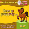 Dress up pretty pony online game