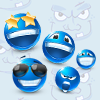 Funny Blue Memory online game