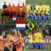 Nederland - Brasil, quarter finals, South Africa 2010 Puzzle online game