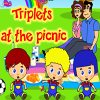 Triplets at the picnic online game