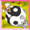 Yin Yang Puppy and Kitty Coloring Game online game