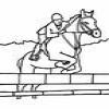 Coloring Equestrian sports -1