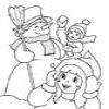 Coloring Snowmen -1